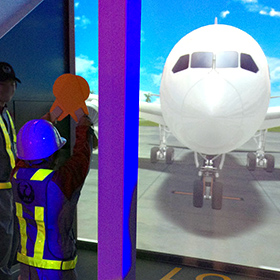 日本航空  マーシャラーお仕事体験
