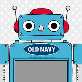 OLD NAVY サイズ計測ロボット